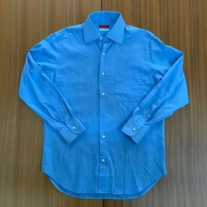 Antonio Fusco Blue Button Down Dress Shirt Mens